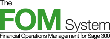 The FOM System for Sage 300 Logo